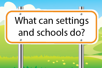 What can settings and schools do