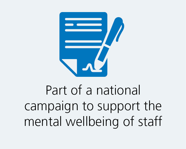 We support staff mental wellbeing