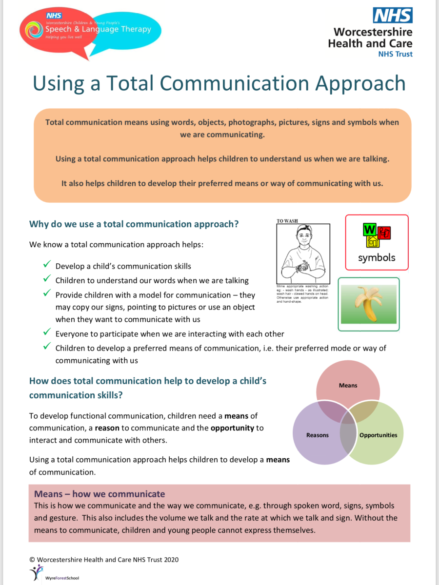 Using a total communication approach