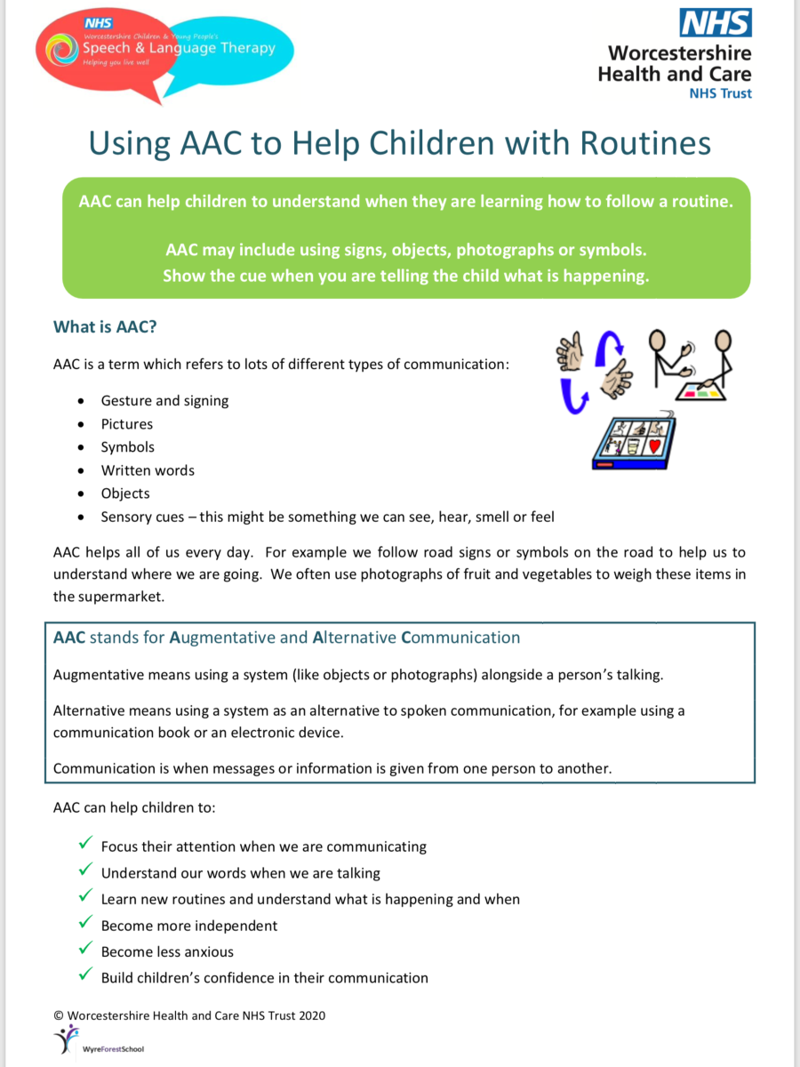 Using AAC to support routines