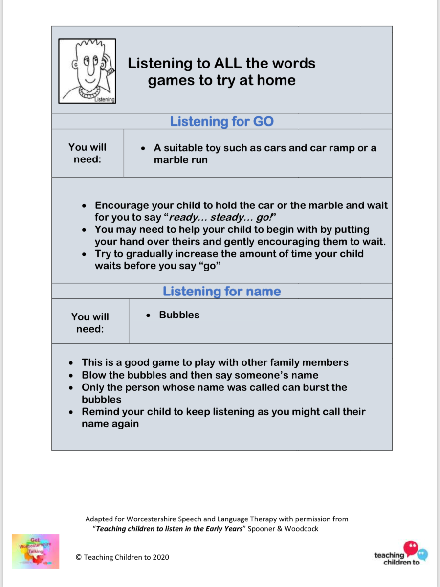 Listening games for home