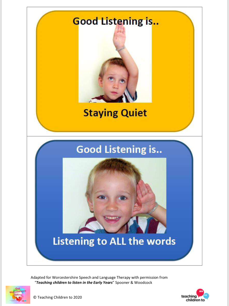 Early Years Listening rules cards 2