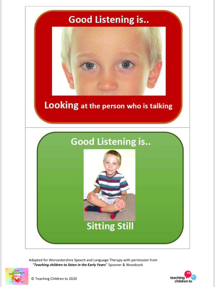 Early Years listening rules cards 1