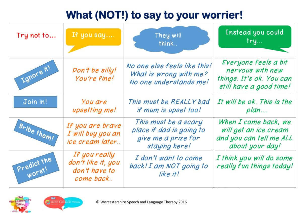 What not to say to your worrier