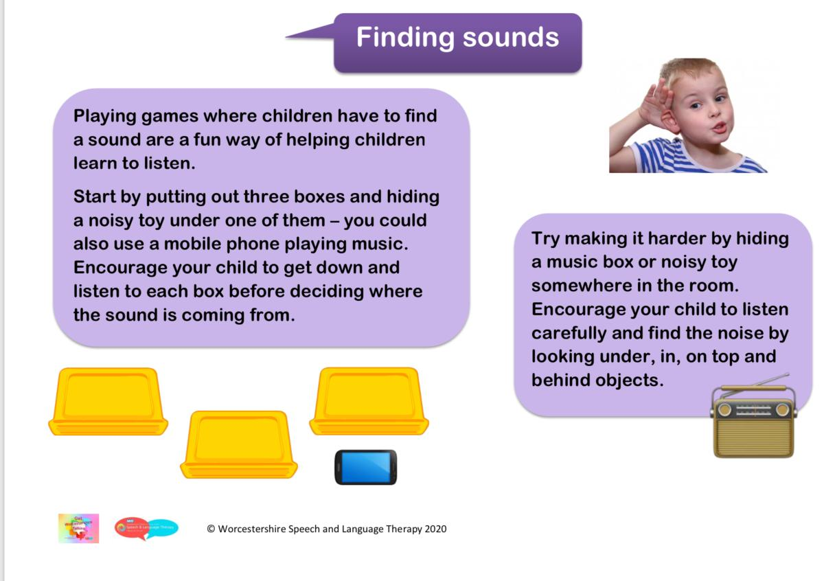 Finding sounds