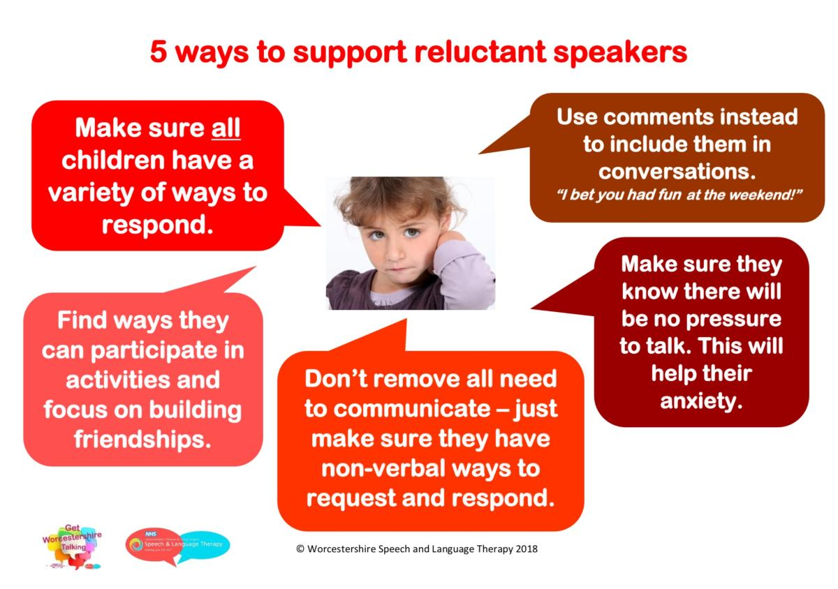 5 ways to support reluctant speakers